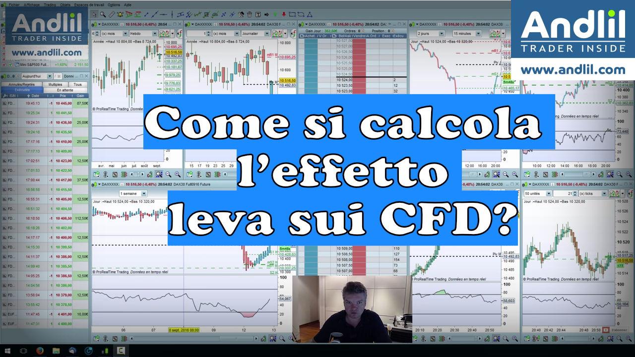 Come si calcola l'effetto leva sui CFD