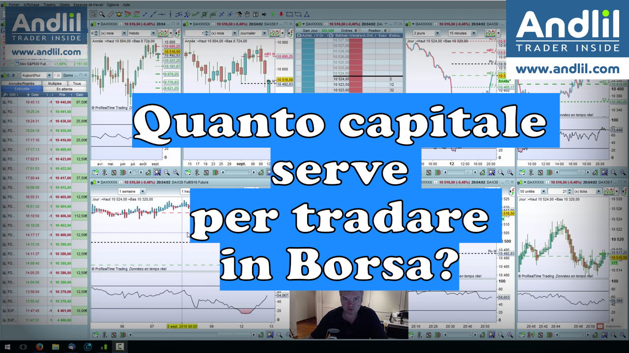 Quanto capitale serve per tradare in Borsa